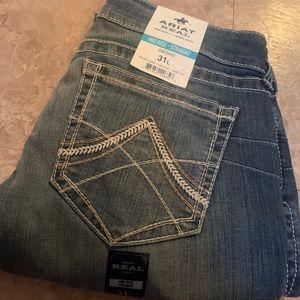 Ariat Midrise Straight Stretch Jeans 31L